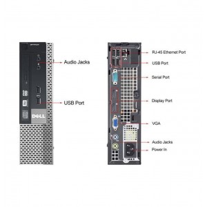 Dell 790 USFF i3-2120 (2º) 3.30Ghz/4Gb/500HDD / Win 10
