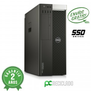 Dell Precision Tower 5810 Xeon E5-1650 3.50Ghz/8Gb DDR4/256Gb SSD - Quadro K600
