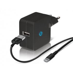 Cargador TEMIUM USB con cable para iPHONE Potencia: 2.4 A - nuevo -