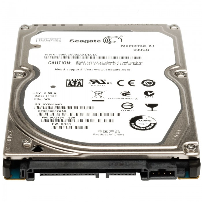Disco duro de 2,5 para portátil de 500Gb SATA 5400RPM