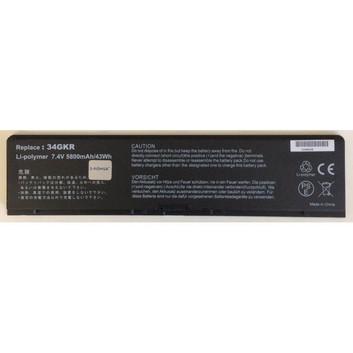 Batería 2-Power 34GKR compatible con portátil Dell Latitude E7440