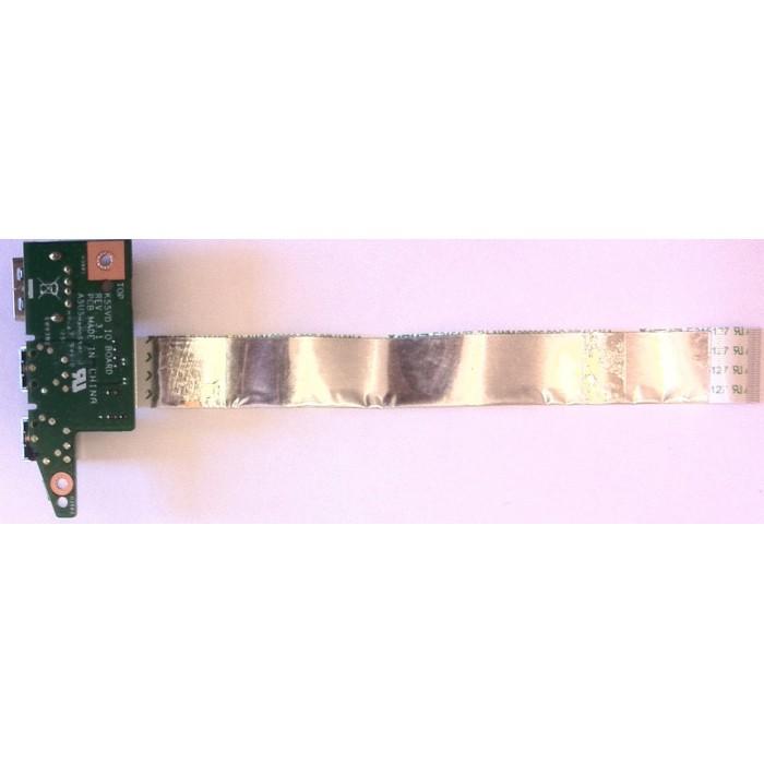 Placa USB y puertos de audio para portátil ASUS K55V series