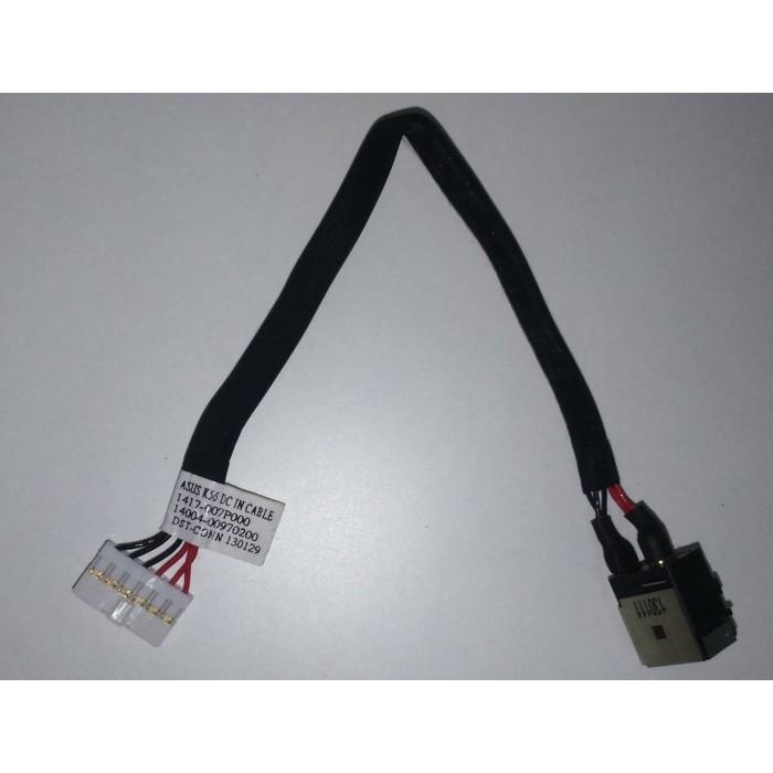 Cable y conector alimentación DC Jack K56 para portátil Asus S550CA