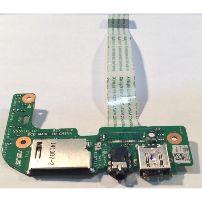 I/O Board (E157925) para portátil Asus K555L original usado