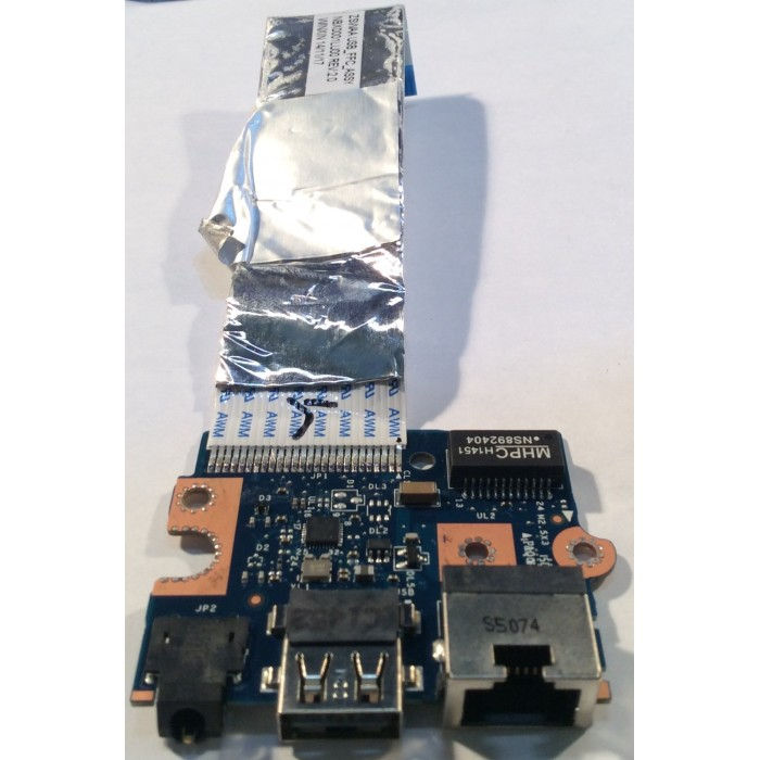 Cable flex,conexión USB y Ethernet para portátil Toshiba C 50 D