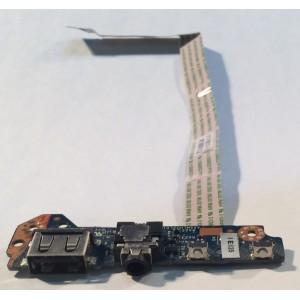 Placa con botónes USB y Audio (LS-B152P) para portátil HP 11-n006ns