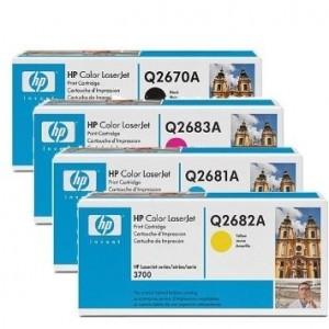 Lote 4x cartuchos de toner Hp LaserJet Q2683A/Q2682A/Q2681A/Q2670A