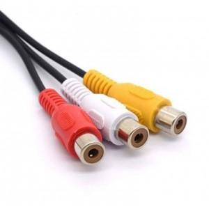 Cable divisor de audio TRS stereo Macho a 3 RCA Hembra Adaptador Jack