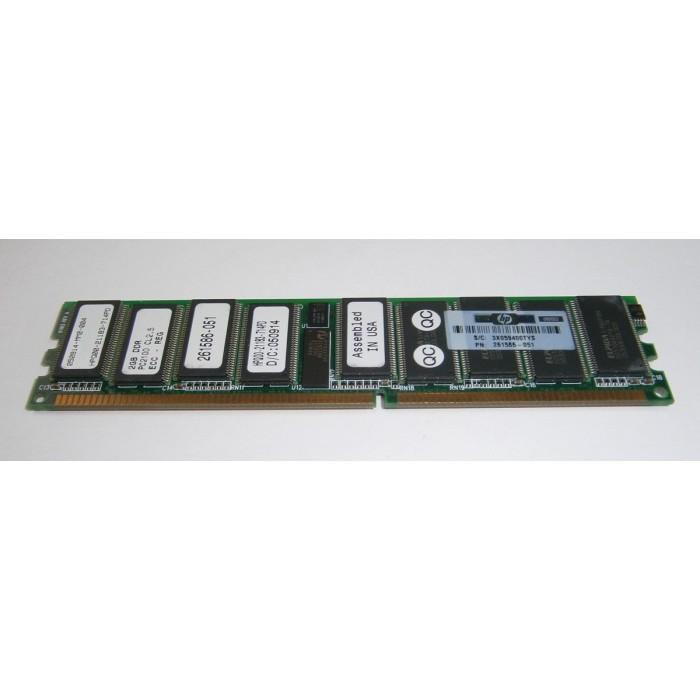 Memoria servidor de 2Gb DDR 256Mhz PC2100 ECC CL2.5