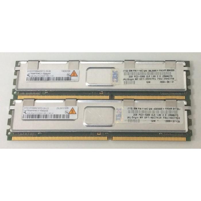 Memoria de servidor 4Gb (2x2Gb) 2Rx4 DDR2 667Mhz FB-DIMM PC2-5300F-555