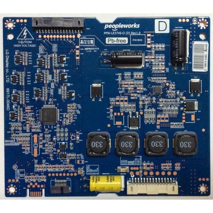 Tarjeta Driver LED (PPW-LE37V6-O Rev 1.0) para Tv LG 37¨ LED