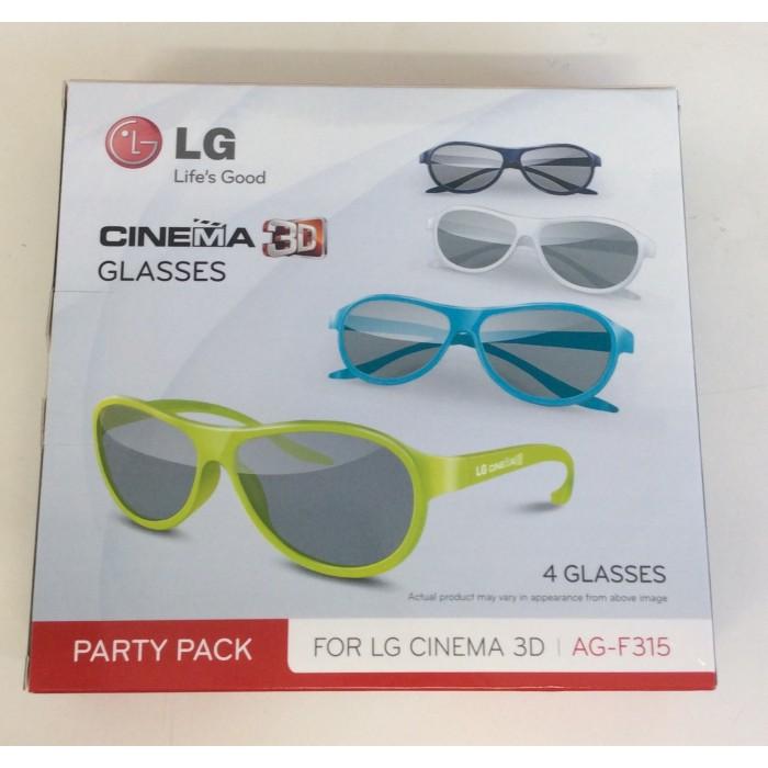 Pack de 4 pares de gafas de colores Cinema 3D pasivas - Nuevas