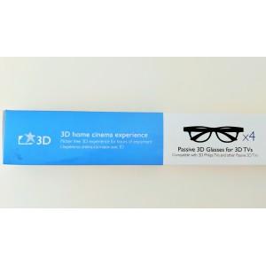 Pack 4 gafas 3D pasivio Philips +2 gafas DUAL VIEW (juegos) - Original