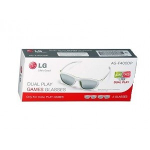 2x Gafas LG Cinema 3D y Dual Play (AG-F400DP) blancas - Nuevas