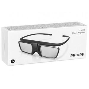 2x Gafas 3D - Philips (PTA519) ACTIVAS - Original Nuevas