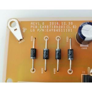 Fuente de alimentación EAX67189201(1.6) Tv LG 49UJ634V
